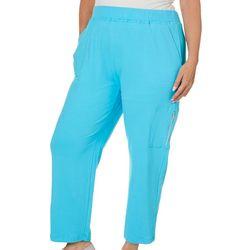 Sportelle Plus High Rise Zip Pocket Pull On Pants
