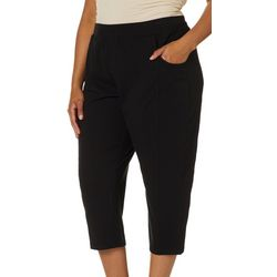 Sportelle Plus Knit Solid Pull On Pants