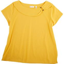 Plus Boat Neck Ring Top