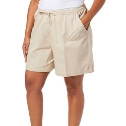 Cathy Daniels Plus Drawstring Pull On Bermuda Shorts