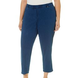Cathy Daniels Plus Pull-On Mock Fly Ankle Jeggings