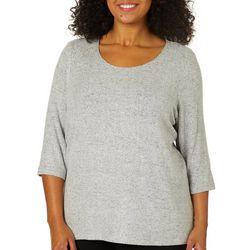 Cathy Daniels Plus Foil Print Sweater Top