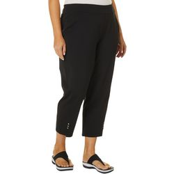 Cathy Daniels Plus Solid Pull On Ankle Length Pants