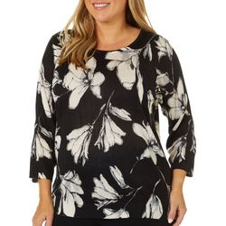 Cathy Daniels Plus Embellished Floral Sweater