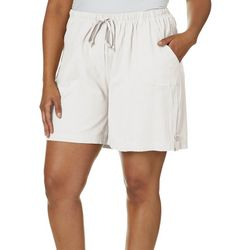 Cathy Daniels Plus Solid Drawstring Shorts