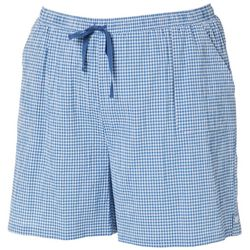 Plus Gingham Print Pull On Shorts
