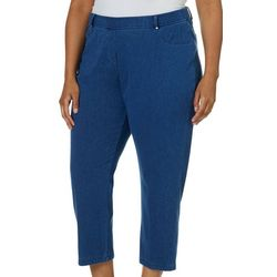 Cathy Daniels Plus Pull On Denim Stretch Pants