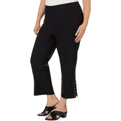 Cathy Daniels Plus Split Embellished Hem Pants