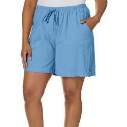 Cathy Daniels Plus Drawstring Pull On Shorts