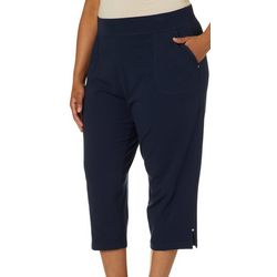 Cathy Daniels Plus Pull On Solid Knit Capris