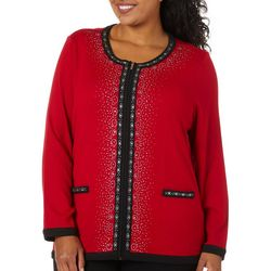 Cathy Daniels Plus Jewel Embellished Long Sleeve Jacket