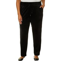 Cathy Daniels Plus Solid Pull On Velure Pants