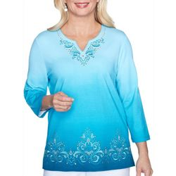 Alfred Dunner Plus Colorado Springs Ombre Top