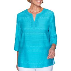 Alfred Dunner Plus Easy Street Textured Top