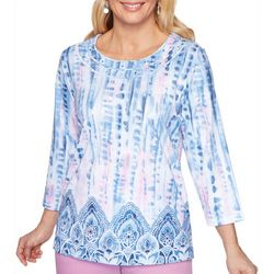 Plus Petal Pushers Medallion Tie Dye Top