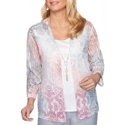 Plus Primrose Garden Medallion Print Duet Top