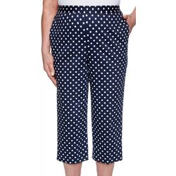 Alfred Dunner Plus Ship Shape Polka Dot Capris