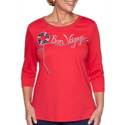 Plus Ship Shape Bon Voyage Embroidered Top