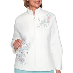 Plus St. Moritz Floral Fleece Jacket