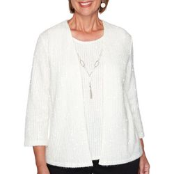 Alfred Dunner Plus Glacier Lake Sequin Duet Sweater