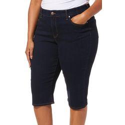 Gloria Vanderbilt Plus Comfy Curvy Solid Skimmer Shorts