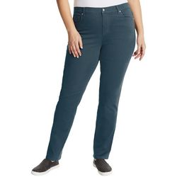 Gloria Vanderbilt Plus Amanda Twill Tapered Leg Short Jeans