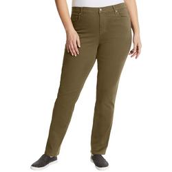 Plus Amanda Twill Tapered Leg Short Jeans