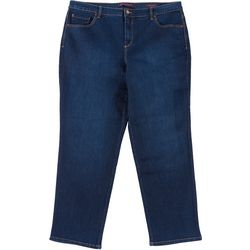 Gloria Vanderbilt Plus Amanda Tapered Leg Short Jeans