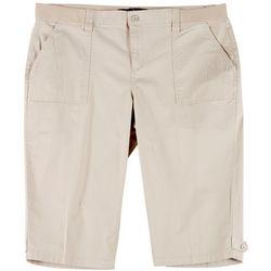 Gloria Vanderbilt Plus Solid Utility Skimmer Shorts