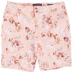 Gloria Vanderbilt Plus Amanda Flowery Bermuda Shorts