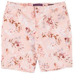 Plus Amanda Flowery Bermuda Shorts