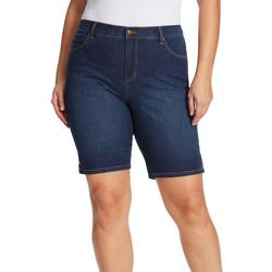 Plus Amanda Bermuda Denim Shorts