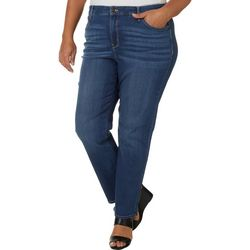 Gloria Vanderbilt Plus Rail Straight Leg Jeans