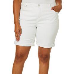 Gloria Vanderbilt Plus Solid City Shorts