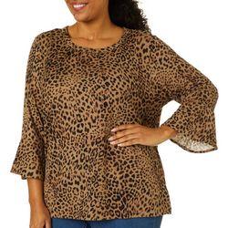 Plus Leapard Print Sweater