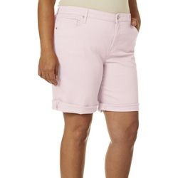 Gloria Vanderbilt Plus Solid City Shorts