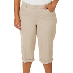 Gloria Vanderbilt  Plus Rail Straight Roll Cuff Capris
