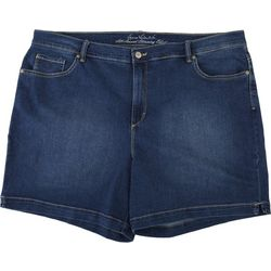 Gloria Vanderbilt Plus Amanda Embroidered Back Pocket Shorts