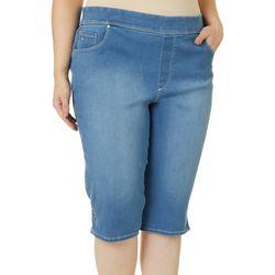 Plus Avery Pull On Denim Skimmer Shorts