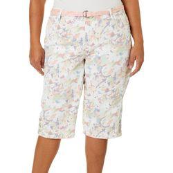 Gloria Vanderbilt Plus Mila Belted Skimmer Shorts