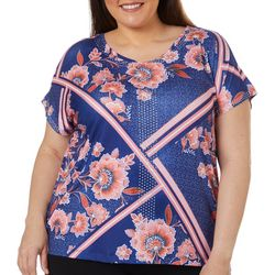 Gloria Vanderbilt Plus Opal Mixed Floral Top