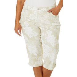 Gloria Vanderbilt Plus Rail Straight Garden Capris