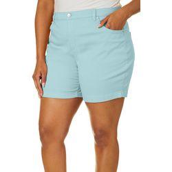 Gloria Vanderbilt Plus Amanda Solid Shorts