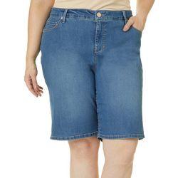 Gloria Vanderbilt Plus Denim City Shorts