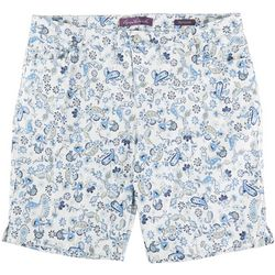 Gloria Vanderbilt Plus Mid-Rise Paisley Bermuda Shorts
