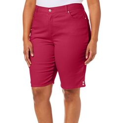Gloria Vanderbilt Plus Amanda Solid Bermuda Shorts