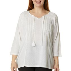 Gloria Vanderbilt Plus Ophelia Embroidered Top