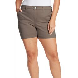 Gloria Vanderbilt Plus Solid Nimah Bermuda Shorts