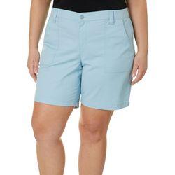 Gloria Vanderbilt Plus Ribbed Waist Solid Short