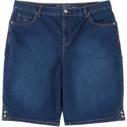 Gloria Vanderbilt Plus Amanda Button Hem Bermuda Shorts
